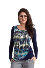 Athena Drape Nursing Top (Chevron Print) by MEV