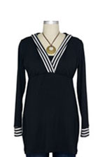 JW Nursing Hoodie Trimmed in Stripes by Japanese Weekend