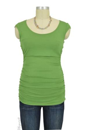 Claire Cap Sleeve Nursing Top (Light Green) by Peek-a-boo