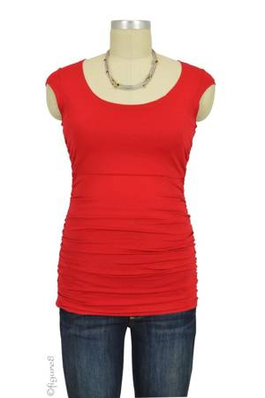 Claire Cap Sleeve Nursing Top (Strawberry Red) by Peek-a-boo
