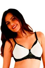Belabumbum Rachelle Soft Cup Nursing Bra (Cream Dot) by Belabumbum