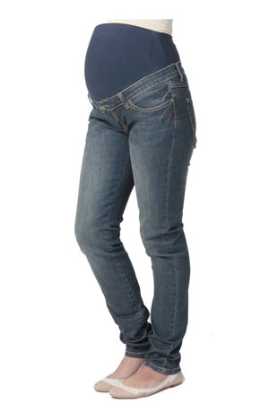 Ripe Lite Skinny Leg Denim Maternity Jeans (Blue Denim) by Ripe Maternity