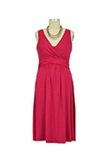 Ava Nursing Wrap Dress (Cherry Red) by Mothers en vogue