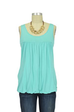 Adria Bubble Nursing Tank (Brilliant Teal) by MEV