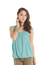 Adria Bubble Nursing Tank (Nile Blue) by MEV