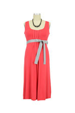 Tatum Sleeveless Maternity Dress with Belt by Jules & Jim