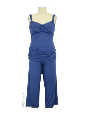 Cake 3/4 Pant and Cami Nursing PJ Set (Blueberry Torte) by Cake Lingerie