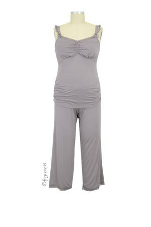 Cake 3/4 Pant and Cami Nursing PJ Set (Apple Crumble) by Cake Lingerie