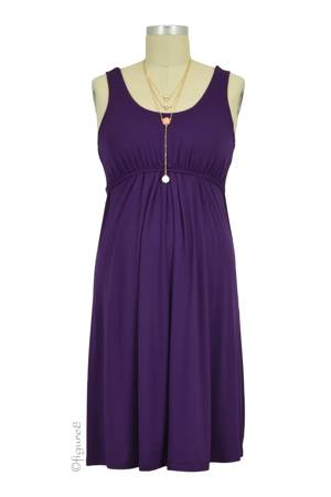 Ying Anytime Sleeveless Nursing Dress (Dark Eggplant) by Larrivo