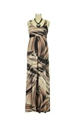 Ying Anytime Maxi Nursing Dress (Brown & Cream Print) by Larrivo