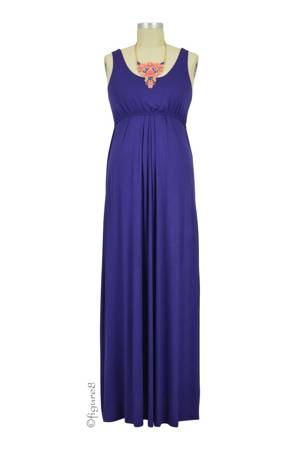 Ying Anytime Maxi Nursing Dress (Dark Eggplant) by Larrivo