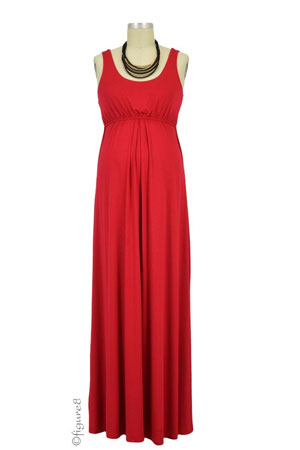 Ying Anytime Maxi Nursing Dress (Red) by Larrivo