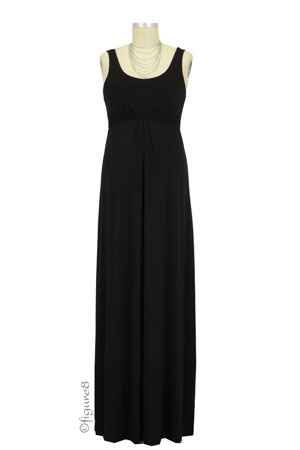 Ying Anytime Maxi Nursing Dress (Black) by Larrivo