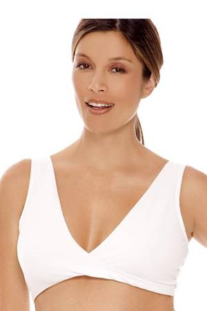 Lamaze Cotton Sleep Bra (White) by Lamaze