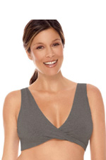 Lamaze Cotton Sleep Bra (Charcoal Heather) by Lamaze