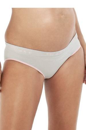 Cake Lingerie Cotton Candy Seamless Brief (Grey) by Cake Lingerie
