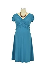 Hillary D&A Luxe Nursing Dress (Teal) by Japanese Weekend