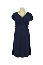 Hillary D&A Luxe Nursing Dress (Navy) by Japanese Weekend