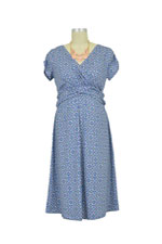 Hillary Luxe Jersey Nursing Dress (Blue Bloom) by Japanese Weekend