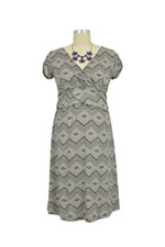 Hillary Luxe Jersey Nursing Dress (Cray Diamond Print) by Japanese Weekend