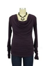 Nellie D&A Side Cinched Cowl Nursing Top by Japanese Weekend