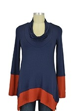 Penelope Nursing Top (Navy & Rust) by Maternal America