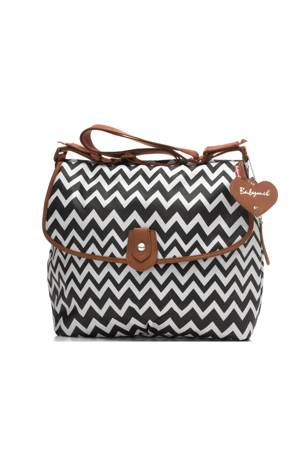 Babymel Satchel Zig Zag Canvas Diaper Bag (Black Zig Zag) by Babymel