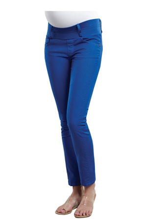 Skinny Ankle Maternity Jeans (Royal) by Maternal America