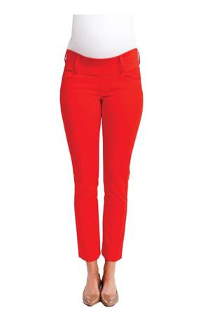 Skinny Ankle Maternity Jeans (Cherry) by Maternal America