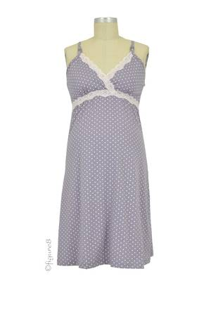 Dottie Nursing Chemise (Grey Dot) by Belabumbum