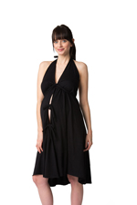 Pretty Pushers Cotton Jersey Labor Gown (Black) by Pretty Pushers