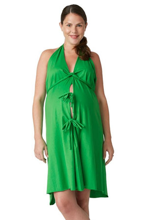 Pretty Pushers Cotton Jersey Labor Gown (Clover Green) by Pretty Pushers