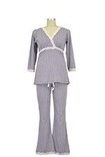 Belabumbum Dottie Kimono Nursing Tunic & Pant Set (Grey Dot) by Belabumbum