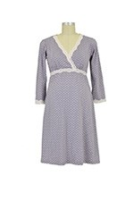 Belabumbum Dottie Kimono Nursing Gown (Grey Dot) by Belabumbum