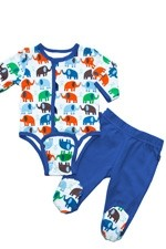 Magnificent Baby Boy's Burrito Set (Elephant) by Magnificent Baby