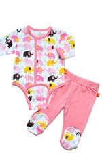 Magnificent Baby Girl's Burrito Set (Elephant) by Magnificent Baby