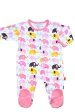 Magnificent Baby Girl's Footie (Elephant) by Magnificent Baby