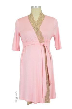 2be05bc08b1 Baju Mama Emma Modal-Lace Nursing Chemise in Hunter Green/Cream Lace