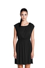 Giselle Elastic Waist Nursing Dress (Black) by Dote