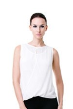 Claire Woven Nursing Top (Cream) by Dote
