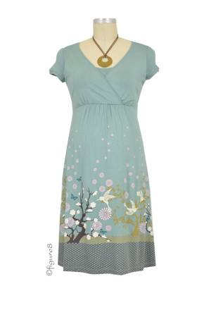 Delilah Nursing Dress (Soft Blue Harmony) by MEV