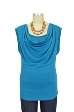 Soft Drape Nursing Top (Paradise Blue) by Annee Matthew