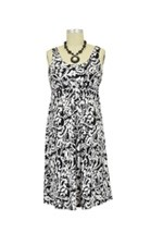 Ying Anytime Sleeveless Nursing Dress (Black & White Floral) by Larrivo