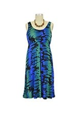Ying Anytime Sleeveless Nursing Dress (Blue Green Print) by Larrivo