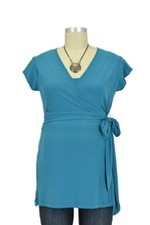Stacy Luxe Wrap Nursing Top (Teal) by Japanese Weekend