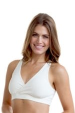 Majamas Organic Padded Sporty Bra (Ivory) by Majamas
