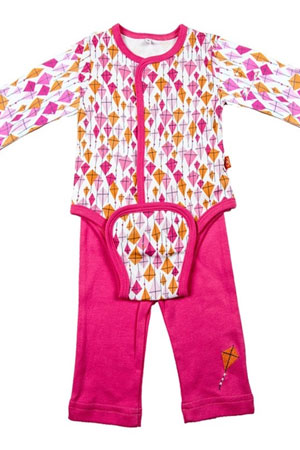 Magnificent Baby Girl's Burrito Set (Pink Kites) by Magnificent Baby
