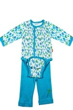 Magnificent Baby Boy's Burrito Set (Blue Kites) by Magnificent Baby