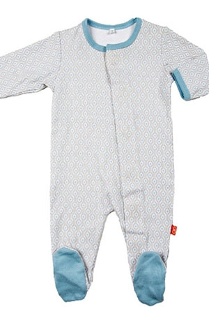 Magnetic Me™ Cotton Magnetic Baby Footie by Magnetic Me by Magnificent Baby