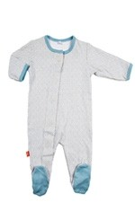 Magnificent Baby Boy's Footie (Blue Mod Dot) by Magnificent Baby
